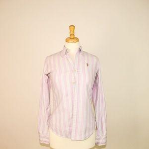 LOT-2 Ralph Lauren Button Down Shirt Slim Fit Polo